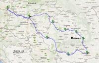 Harta traseu Bucuresti Budapesta