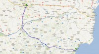 Harta traseu auto Bulgaria