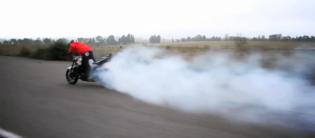 Drift moto burnout