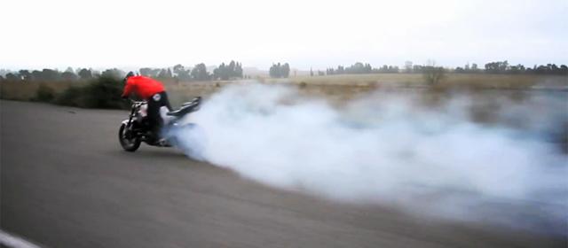 Drift moto burnout