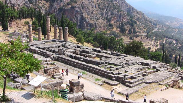 Templu in Delphi - Grecia