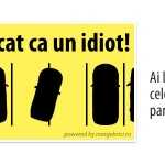 "Sticker auto ""Am parcat ca un idiot"""