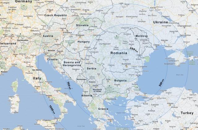 Distante din Bucuresti Europa