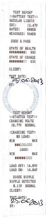 Bon test baterie