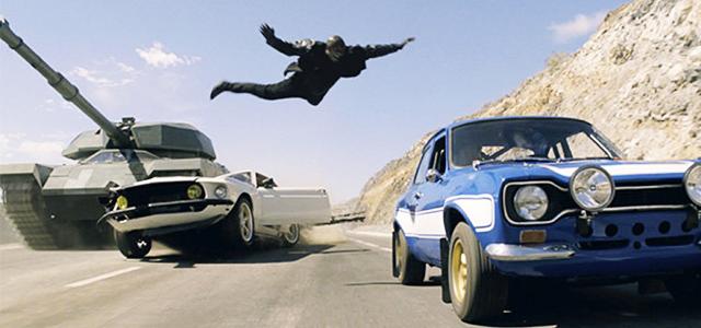 Fast & Furious 6 - un tanc si un om zburator