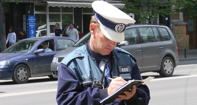Amenda rutiera data de politist in Romania