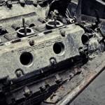 Motor Porsche Carrera vechi demontat