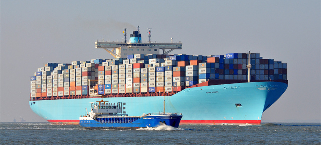 Vas transport Emma Maersk