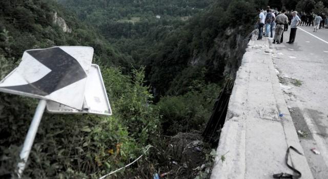 Accident autocar in Muntenegru