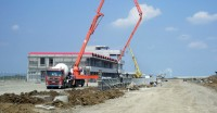 Constructie circuit curse Mures Ring - zona standuri