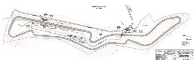 Schita circuit auto moto Mures Ring