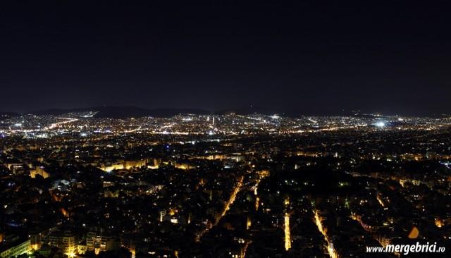 Atena noaptea - vedere de sus