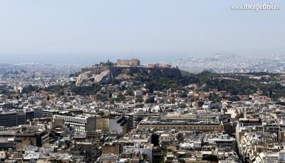 Vedere catre Acropole in Atena