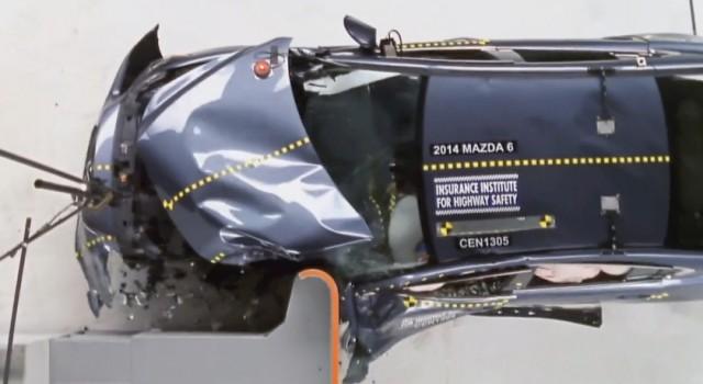 Mazda 6 - impact frontal lateral - IIHS