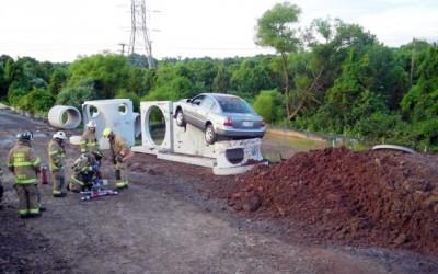 Accident stupid - parcare neregulamentara