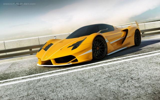 Masina 3D: Ferrari Galben (wizzoo7)