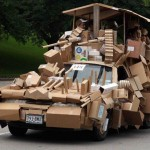 Masina de carton - tuning extrem