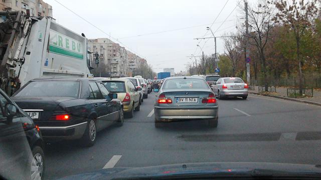 Mizerie de trafic in Bucuresti