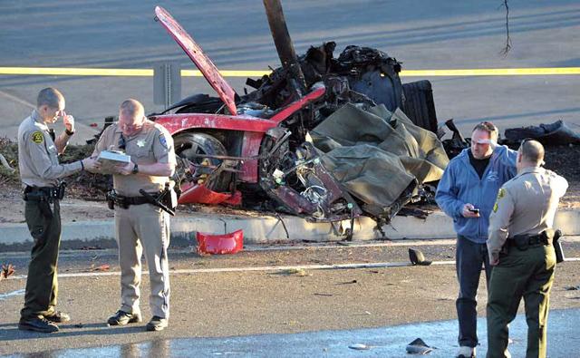 Accident Paul Walker in Porsche