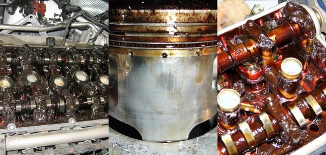 Motor imbacsit cu ulei vechi (neschimbat la timp)