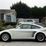 Porsche tunat alb ciudat