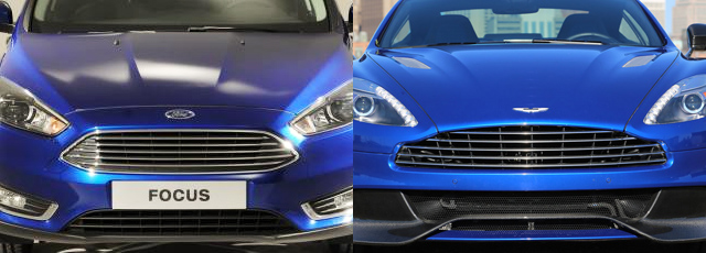 Grila radiator Ford vs Aston Martin