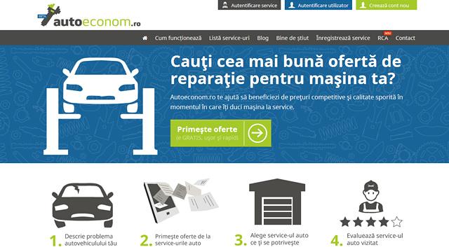 Interfata Autoeconom - oferte service auto