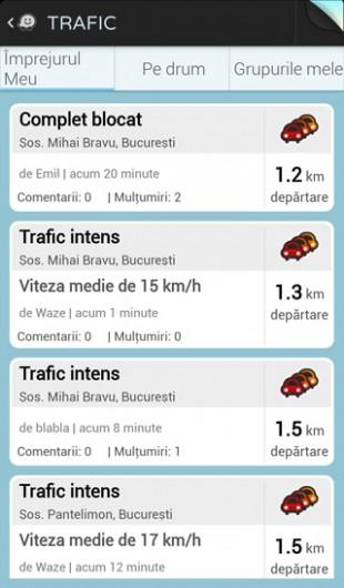 Waze - situatie trafic