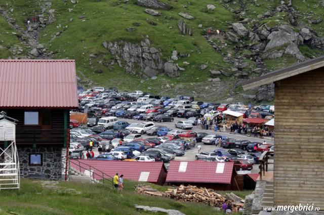 Transfagarasan - aglomeratie parcare Balea Lac