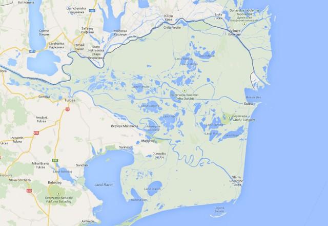 Harta Delta Dunarii Romania
