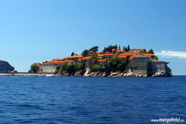 Insula Sf Stefan - Muntenegru - de pe apa