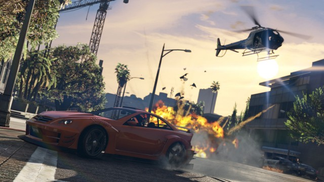 GTA 5 PC - Explozie in urmarire politie