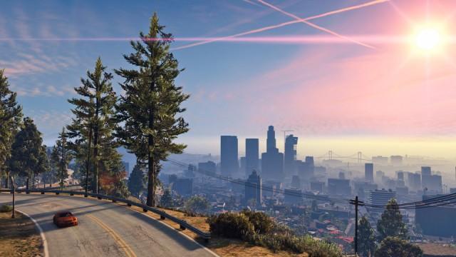 GTA 5 PC - Vedere sosea si peisaj