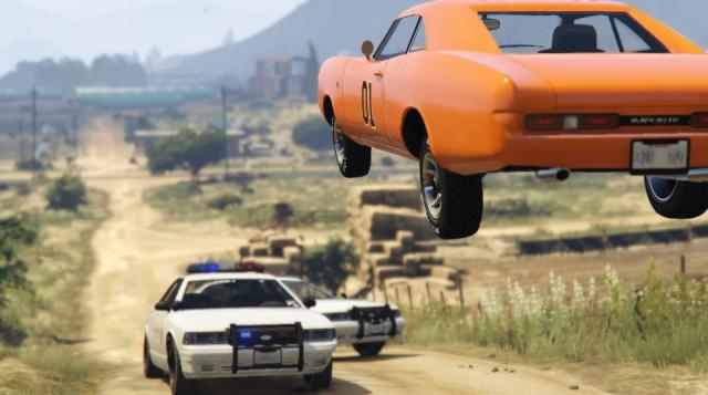 GTA 5 - Politie, muscle car si saritura