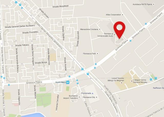 Harta sediul DRPCIV Bucuresti