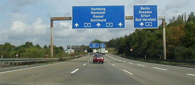 Marcaje vizibile autostrada Germania