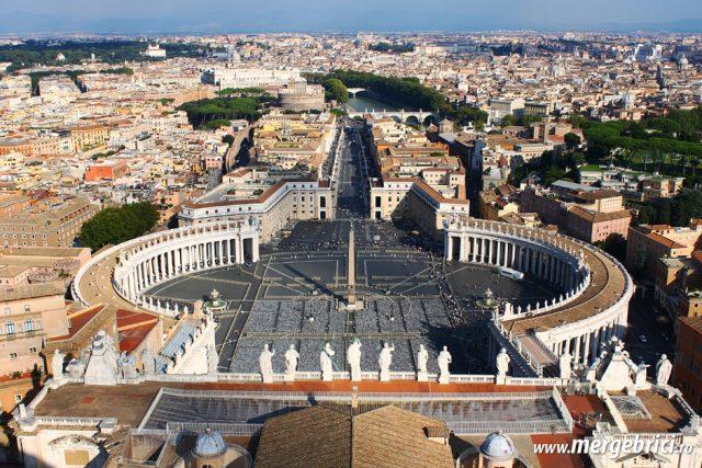 Italia: vedere spre piata in Vatican
